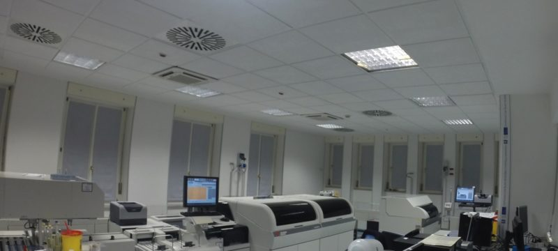Tende fonoassorbenti LinenAcoustic all'ospedale maggiore - ospedali riuniti di Trieste
