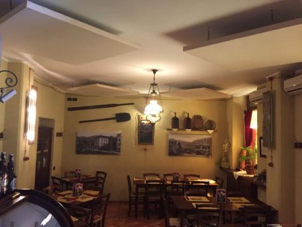 Pannelli fonoassorbenti ristorante pizzeria Ecco