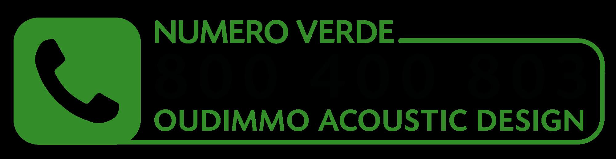 NUMERO VERDE OUDIMMO ACOUSTIC DESIGN - Oudimmo Acoustic Design