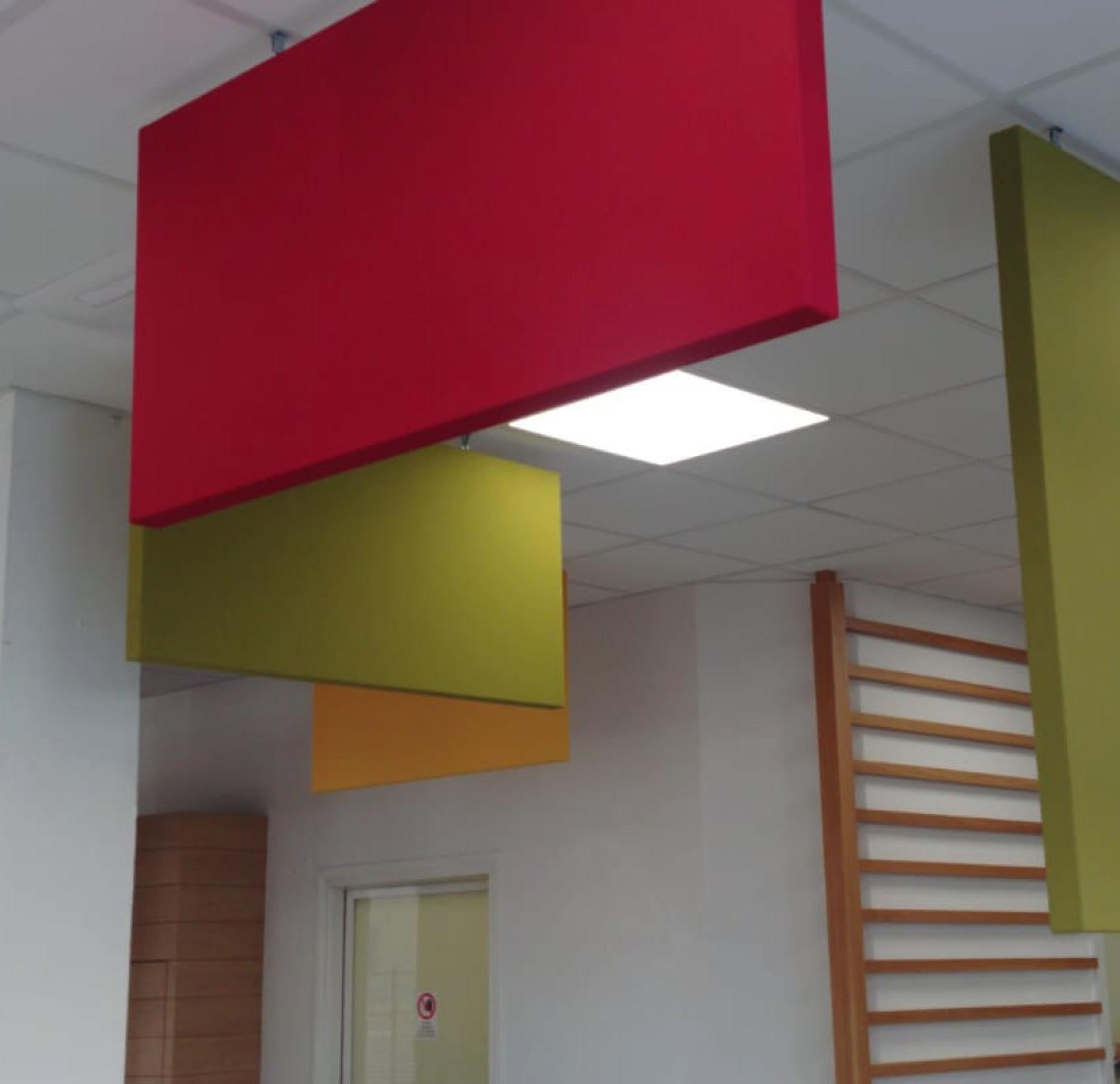Pannelli acustici fonoassorbenti a soffitto e a parete for Pannelli da parete