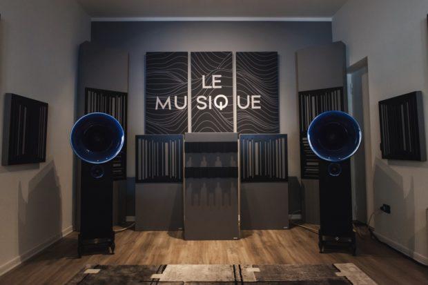 Quadri fonoassorbenti negozio HIFI Le Musique