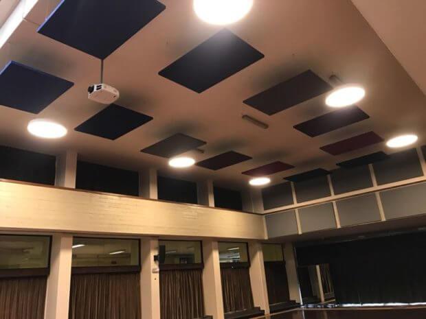 pannelli fonoassorbenti auditorium
