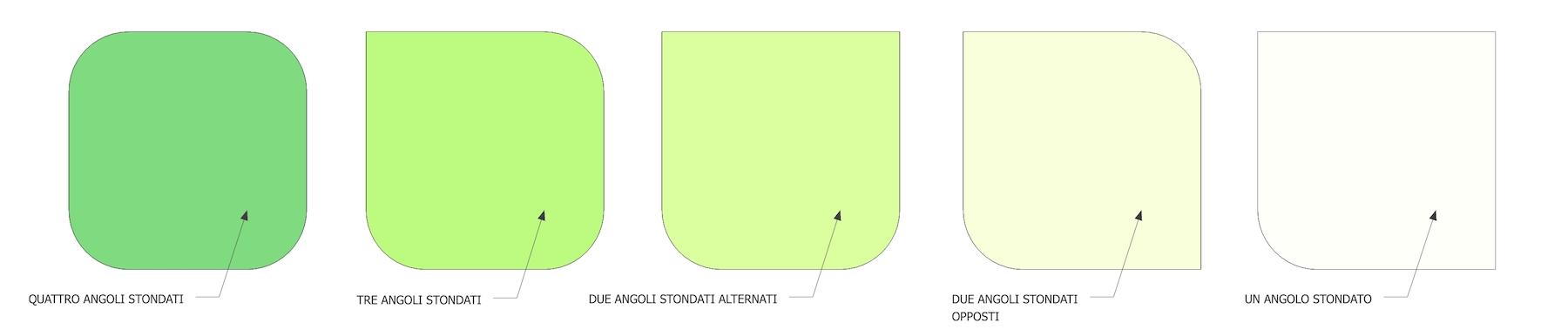 ICON numero angoli stondati