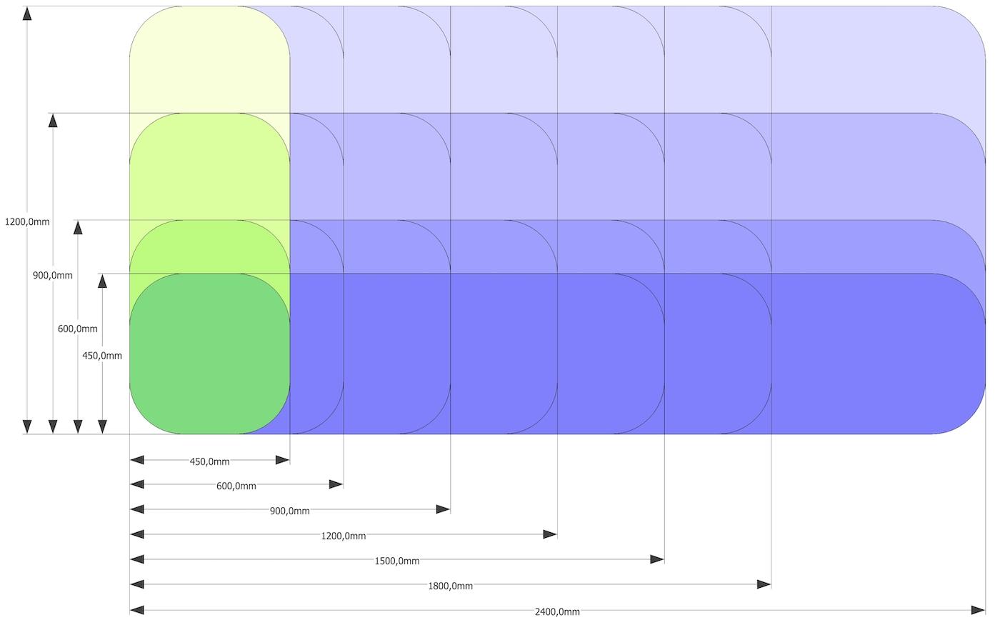 Dimensioni pannelli acustici ICON