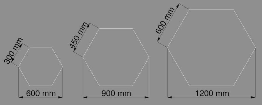 pannelli acustici esagonali